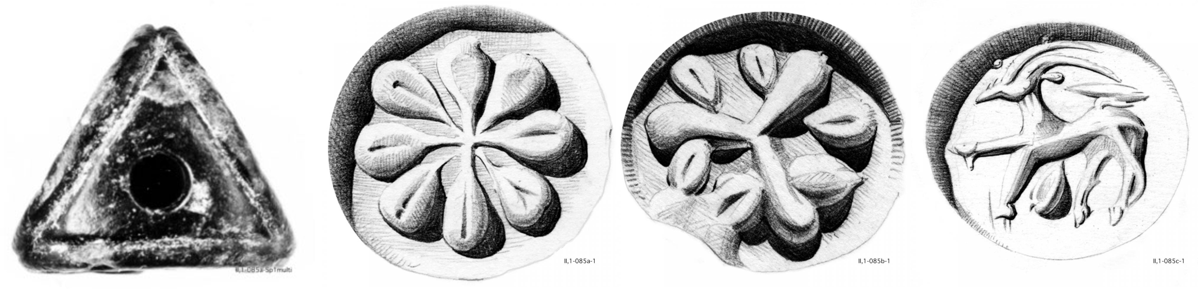 Fig. 1: The three-sided seal CMS                         II,1 085. [Graphic by courtesy of the CMS Heidelberg.]