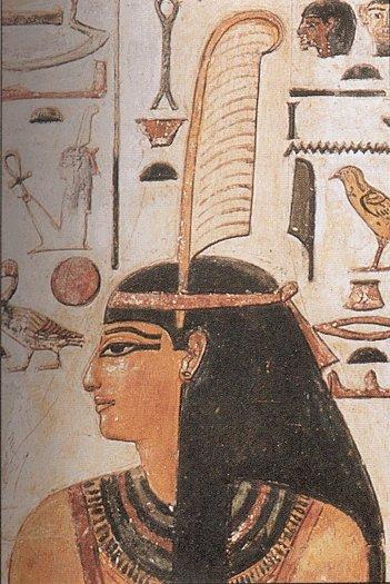 Abb. 2: Personifikation der Göttin Maat. [Wikimedia: Maat. CC0 1.0]