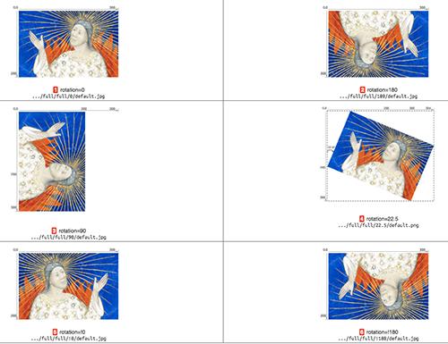 Abb. 6: IIIF Image API 3.0, Parameter                            {rotation}. [Appleby et al. 2020, Kapitel 4.3]
