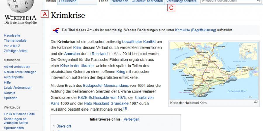 Abb. 1: Eigenschaften und Strukturen der                                Wikipedia als Hypertext. Quelle: © Wikipedia, 2017.