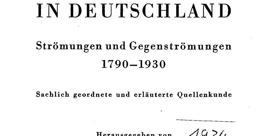 Abb. 2: Bibliographie zur Geschichte der                                Frauenbewegung 1790–1930 (1934) (Quelle: Thomas Gloning, privat).
