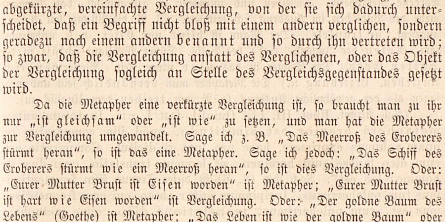Abb.1: Auszug zur Metapher aus Beyers Poetik, S.                        157 (eigene Darstellung, 2015).