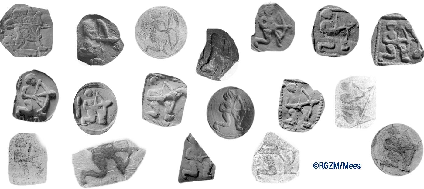 Abb. 8: Darstellung von Bogenschützen-Punzen.                            [Eigene Darstellung, © RGZM / Mees, CC BY 4.0].