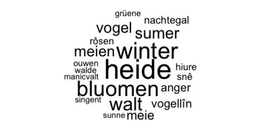 Abb. 9: Topic 'Natureingang' (Wordcloud der                        häufigsten Wörter) (eigene Darstellung, 2017)
