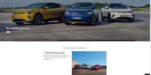 Abb. 6: Ansicht Startseite volkswagen.de                            (Zoom-Stufe 50 %, 17.02.2021). [Jurczyk 2021]