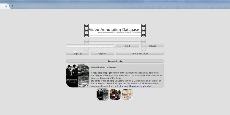 Abb. 1: Startseite von Pan.do/ra.                                     Screenshot, erstellt am 17.06.2015, © HRA, CC-Lizenz 0.