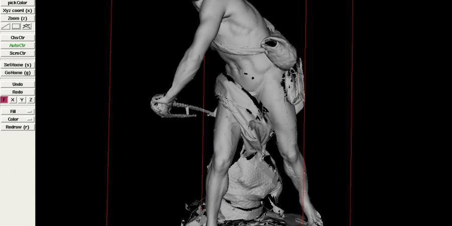 Abb. 5: Verschiedene Zustände der Rekonstruktion                         des David. © Grafik entstammt dem Projekt, 2017.