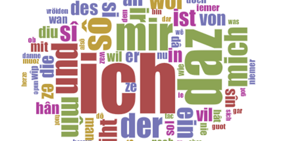 Wordcloud Minnesangs Frühling