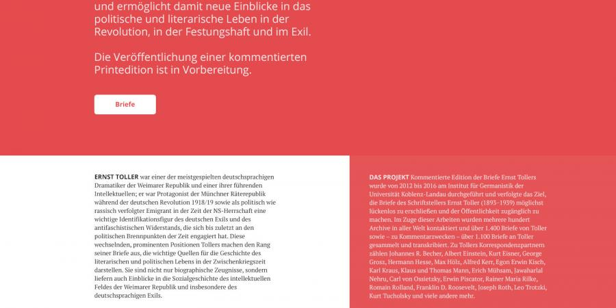 Abb.1: Startseite, 1. Entwurf (Daniel Dutkowski,                                September 2015).