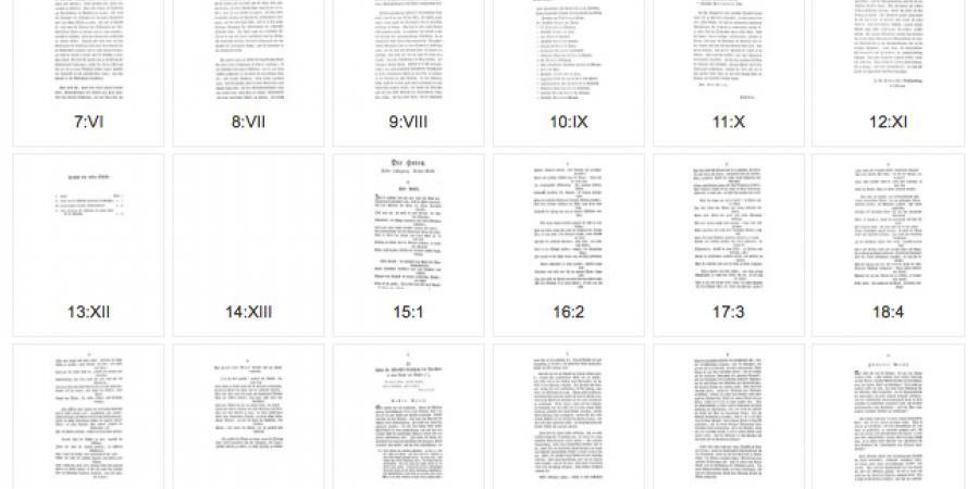 Abb. 3: Mediumspezifische Ordnungsform Einzelheft,                        Beispiel Die Horen eine Monatsschrift herausgegeben von                           Schiller 1 (1795), H. 1 (Seitenlauf Auszug). © [online]